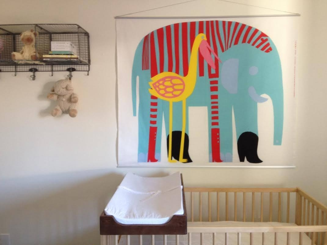 Marimekko Fabric, Stretched On Poster Frame Find This Fabric With 2017 Marimekko Fabric Wall Art (View 10 of 15)
