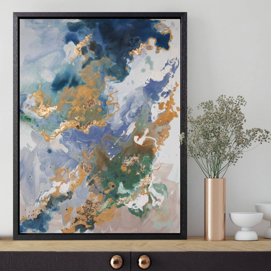Marino Stone' Framed Giclée Abstract Canvas Print Artattikoart Inside Most Up To Date Abstract Framed Art Prints (Gallery 1 of 15)