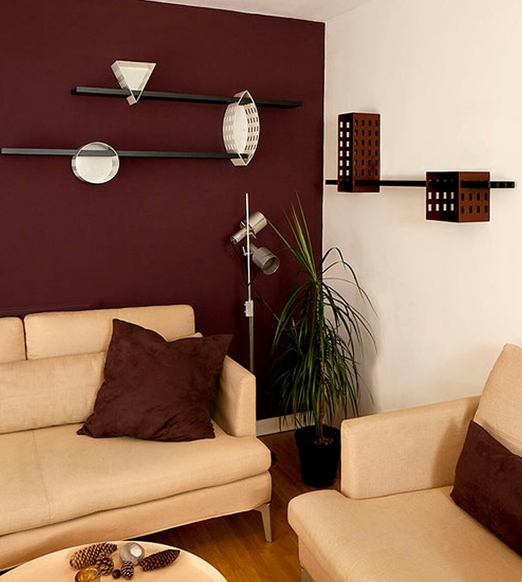 Maroon Wall Modern Living Room | Living Room Decor | Pinterest Within Recent Maroon Wall Accents (View 2 of 15)