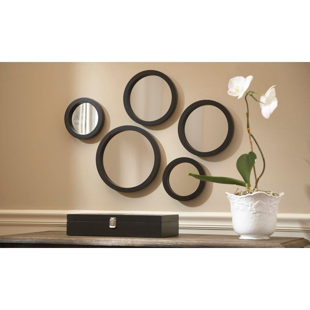 Martha Stewart Living Seneca 5 Piece Framed Mirror Set 71892 – The For Latest Mirror Sets Wall Accents (View 4 of 15)