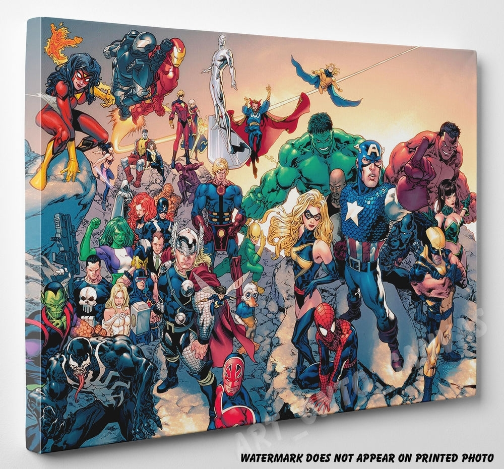 Marvel Canvas | Ebay Inside Latest Marvel Canvas Wall Art (View 10 of 15)