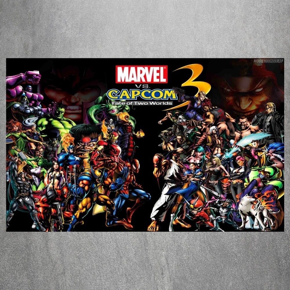 Marvel Heroes Vs Capcom 3 Vintage Retro Posters And Prints Home With Regard To Most Current Marvel Canvas Wall Art (Gallery 14 of 15)