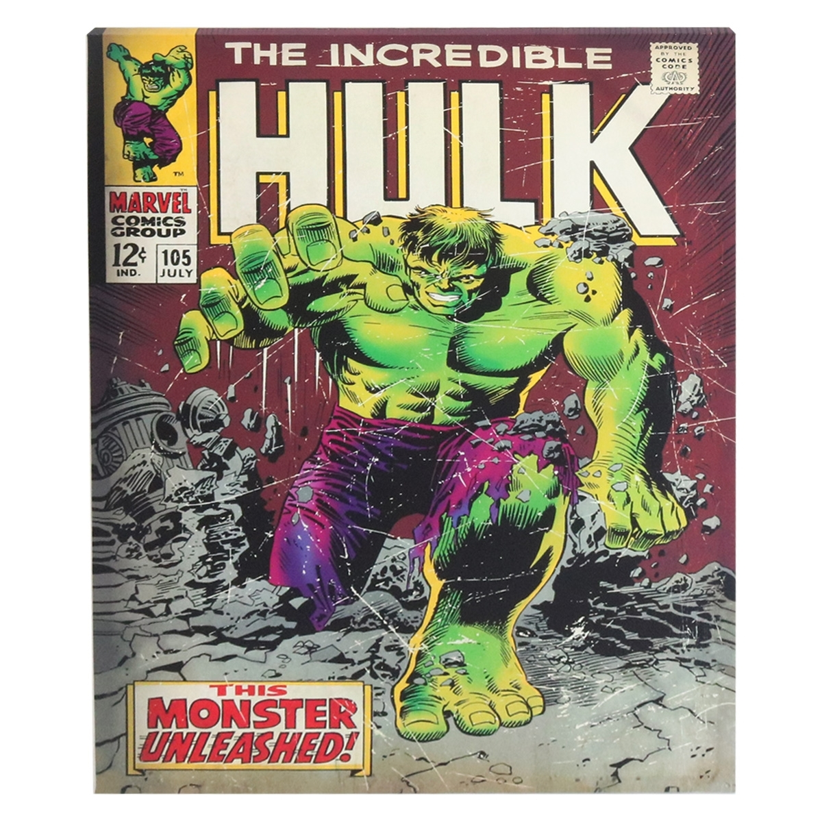 Marvel Incredible Hulk Canvas Wall Art | Harry Corry Limited With Regard To Most Popular Marvel Canvas Wall Art (Gallery 13 of 15)