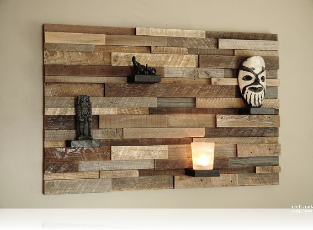 Marvellous Modern Wood Wall Panels Simple Home Design Amp Ideas In Most Recently Released Wall Art Accents (View 7 of 15)