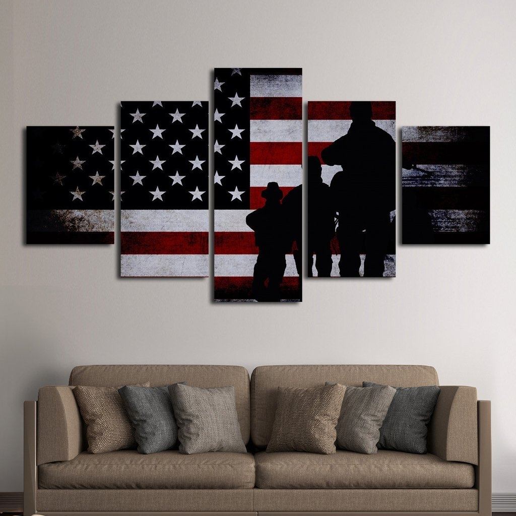 Marvelous Idea Canvas Wall Art Together With American Flag Inside Newest Canvas Wall Art In Canada (View 7 of 15)