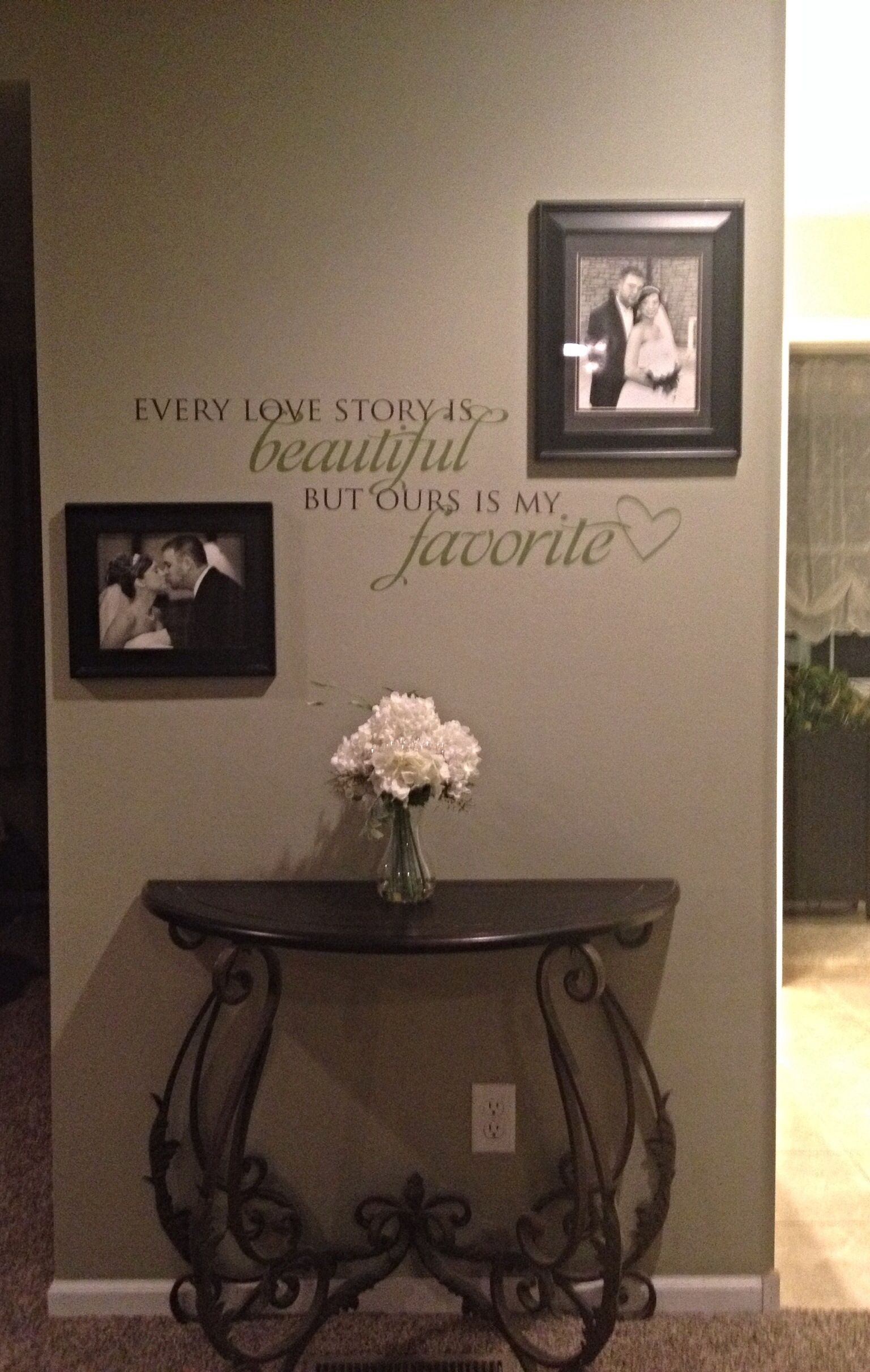 Master Bedroom Wall Decor. Wording Is From Uppercase Living. Table Inside Recent Hobby Lobby Wall Accents (Gallery 5 of 15)