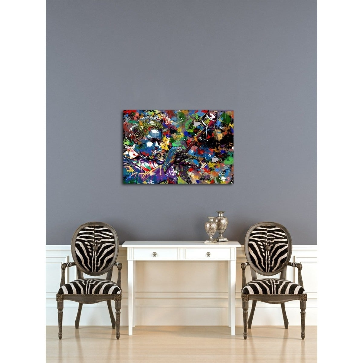 Maxwell Dickson 'jazz Musician' Canvas Wall Art – Free Shipping With Regard To Most Current Jazz Canvas Wall Art (View 14 of 15)