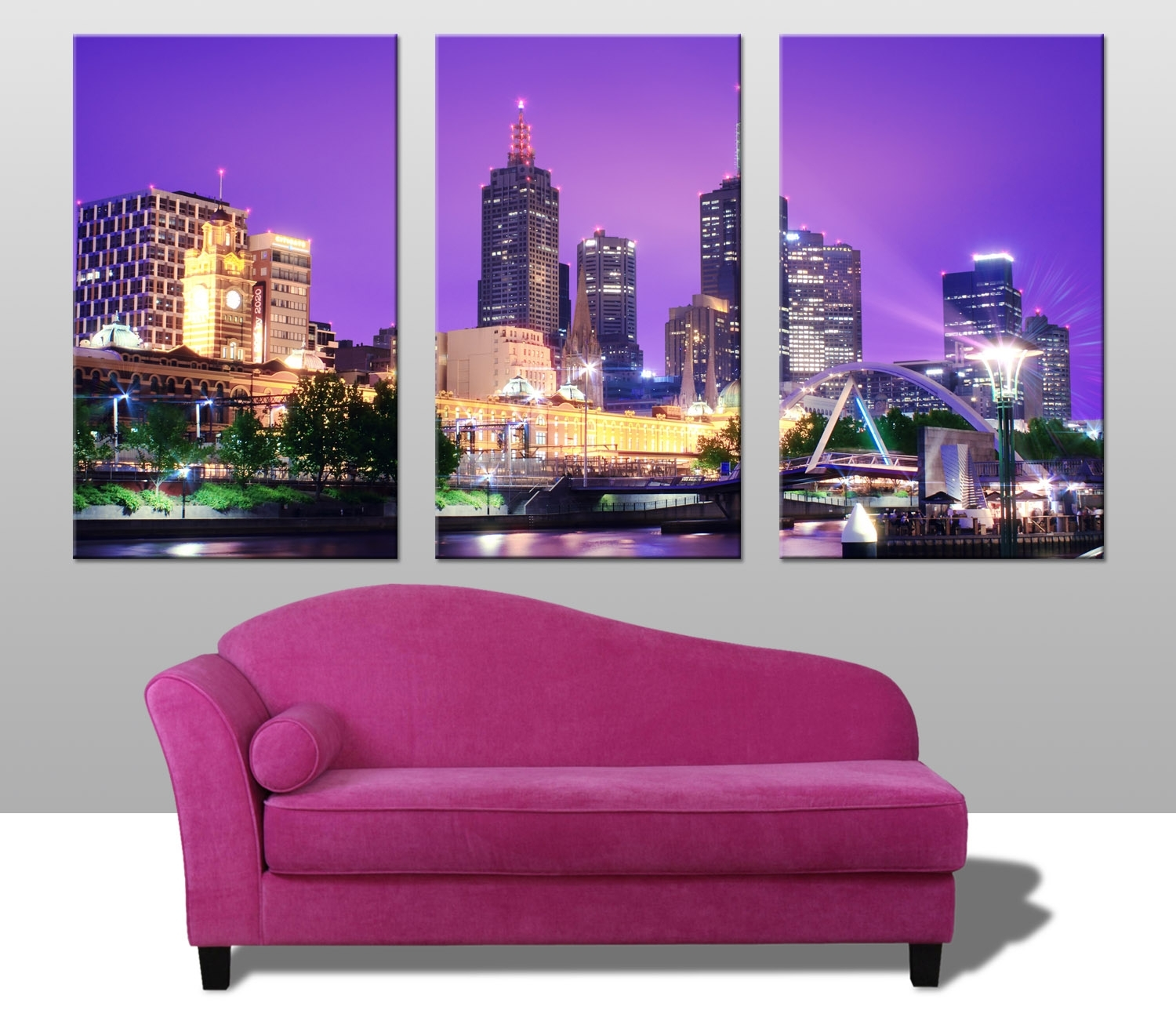 Melbourne Triptych Wall Art Prints Australia In Current Canvas Wall Art In Melbourne (View 6 of 15)