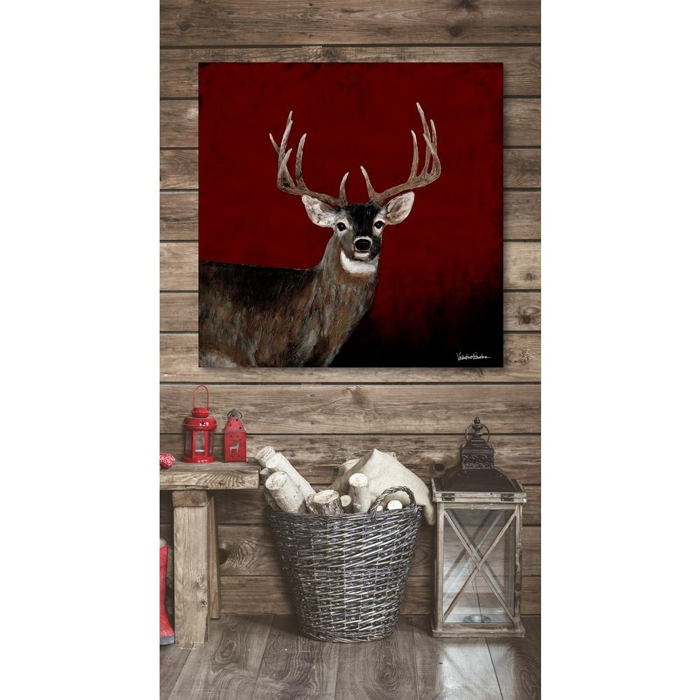 """Melissa Van Hise 39 In. X 39 In. """"country Buck At Sunset"""" Intended For Latest Deer Canvas Wall Art (Gallery 12 of 15)"""