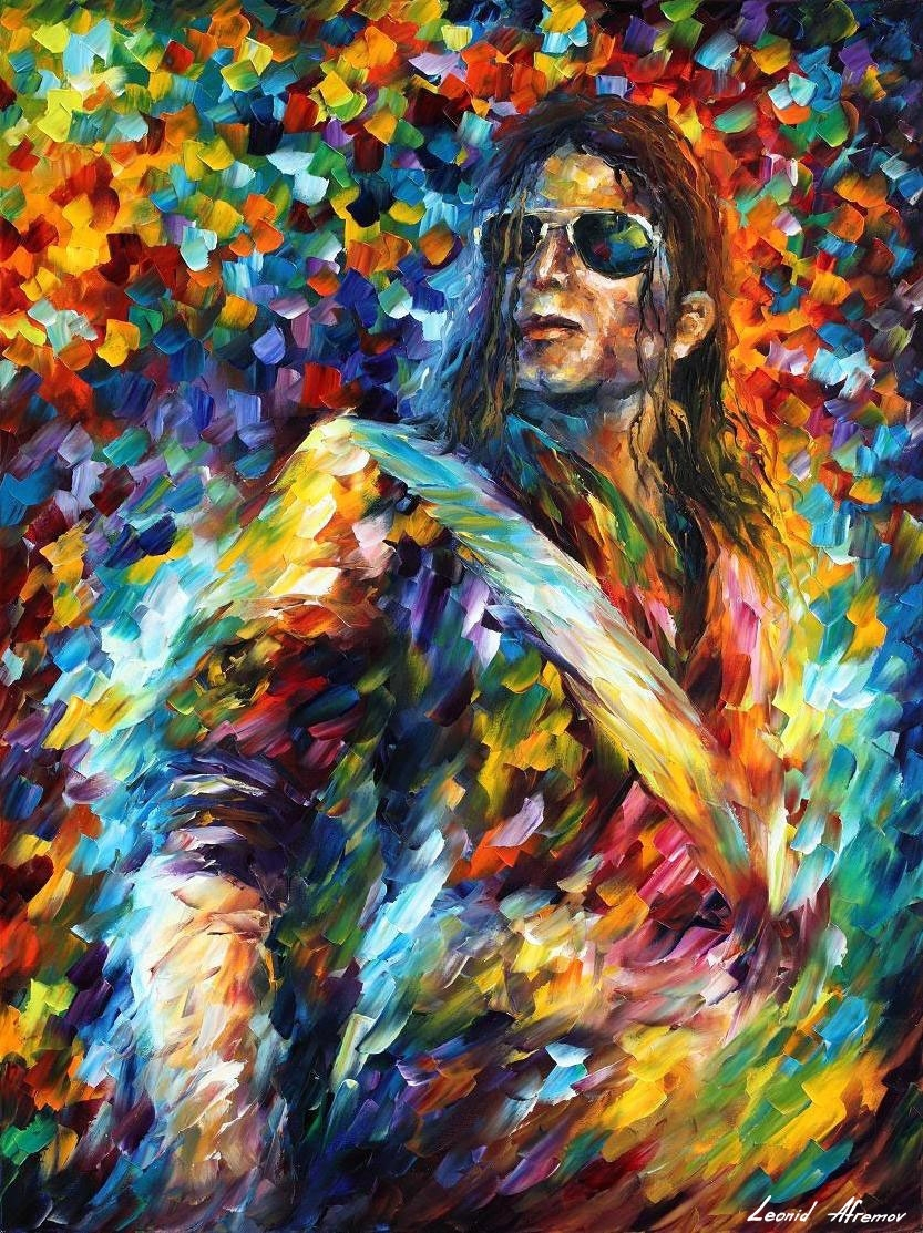 Michael Jackson — Palette Knife Oil Painting On Canvasleonid With 2018 Michael Jackson Canvas Wall Art (View 12 of 15)