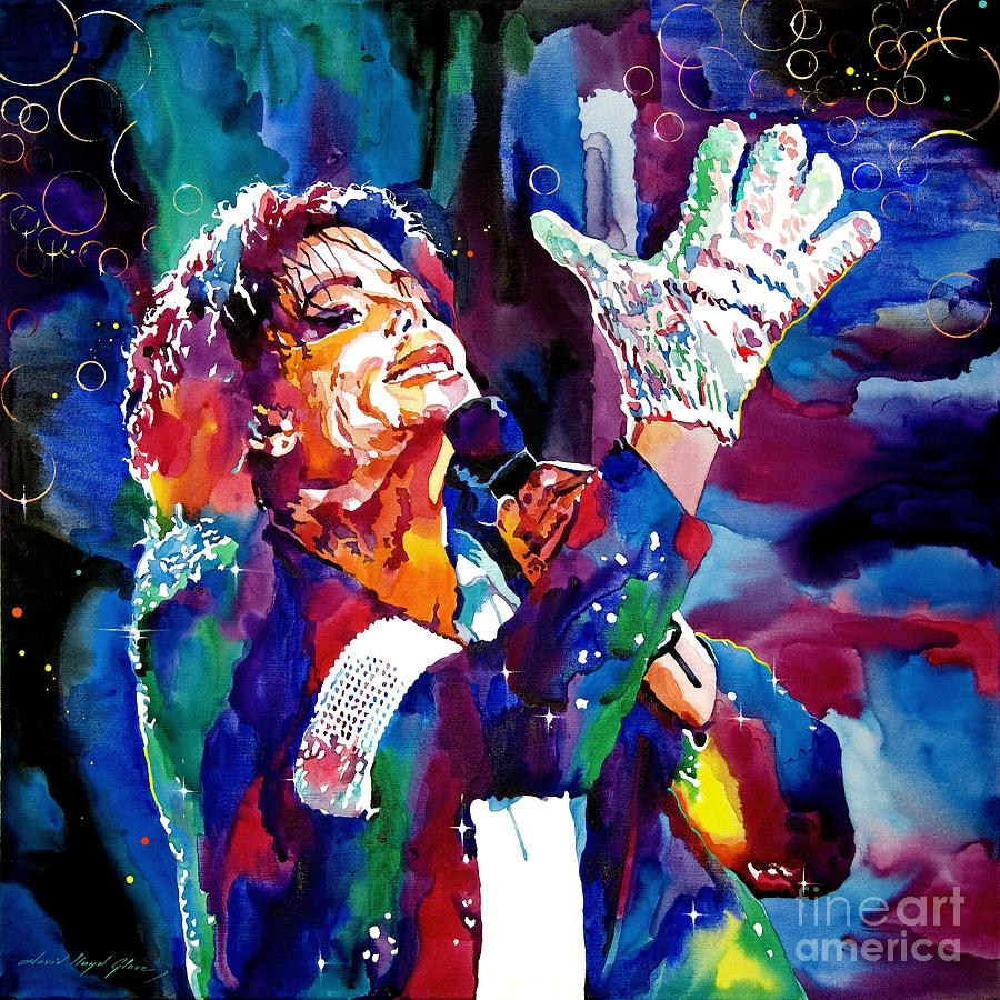Michael Jackson Sings Paintingdavid Lloyd Glover Within Best And Newest Michael Jackson Canvas Wall Art (View 8 of 15)