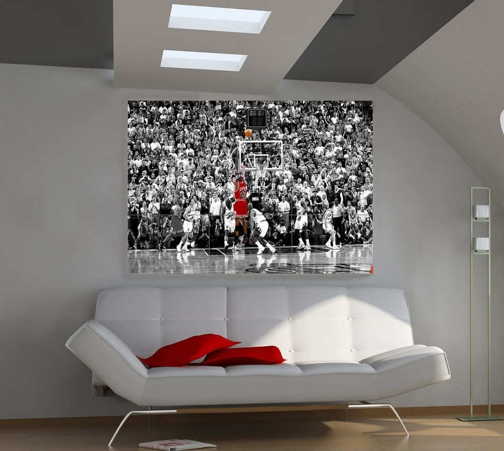 Michael Jordan Art | Ebay Inside Most Up To Date Michael Jordan Canvas Wall Art (View 8 of 15)