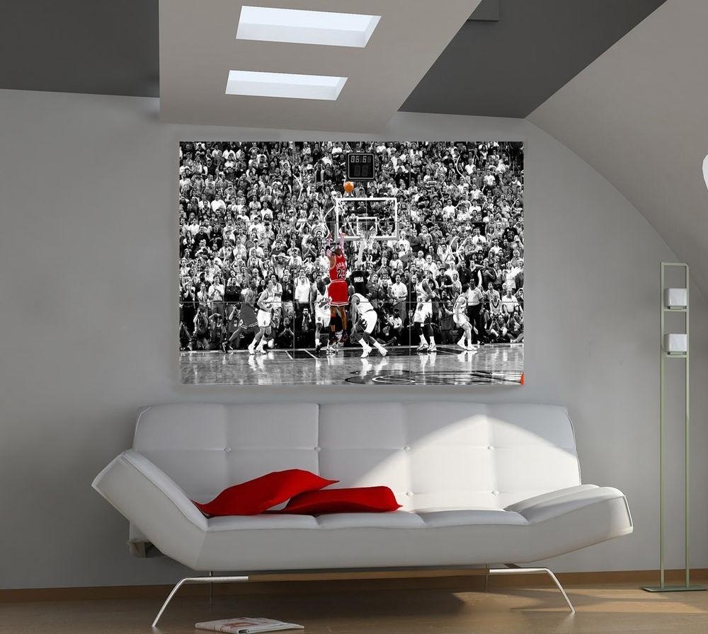Michael Jordan Art | Ebay Inside Most Up To Date Michael Jordan Canvas Wall Art (View 4 of 15)