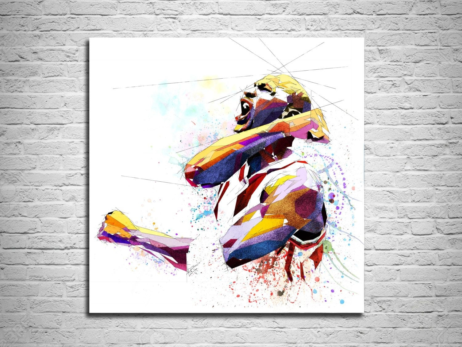 Michael Jordan Canvas Print Basketball Art Print, Sports With 2017 Michael Jordan Canvas Wall Art (View 9 of 15)