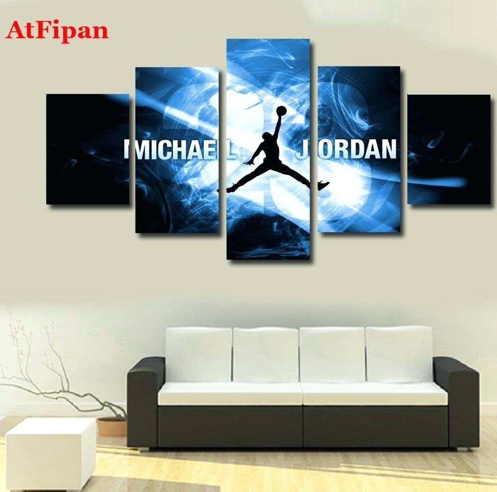 Michael Jordan Comforter Set With Recent Michael Jordan Canvas Wall Art (Gallery 11 of 15)