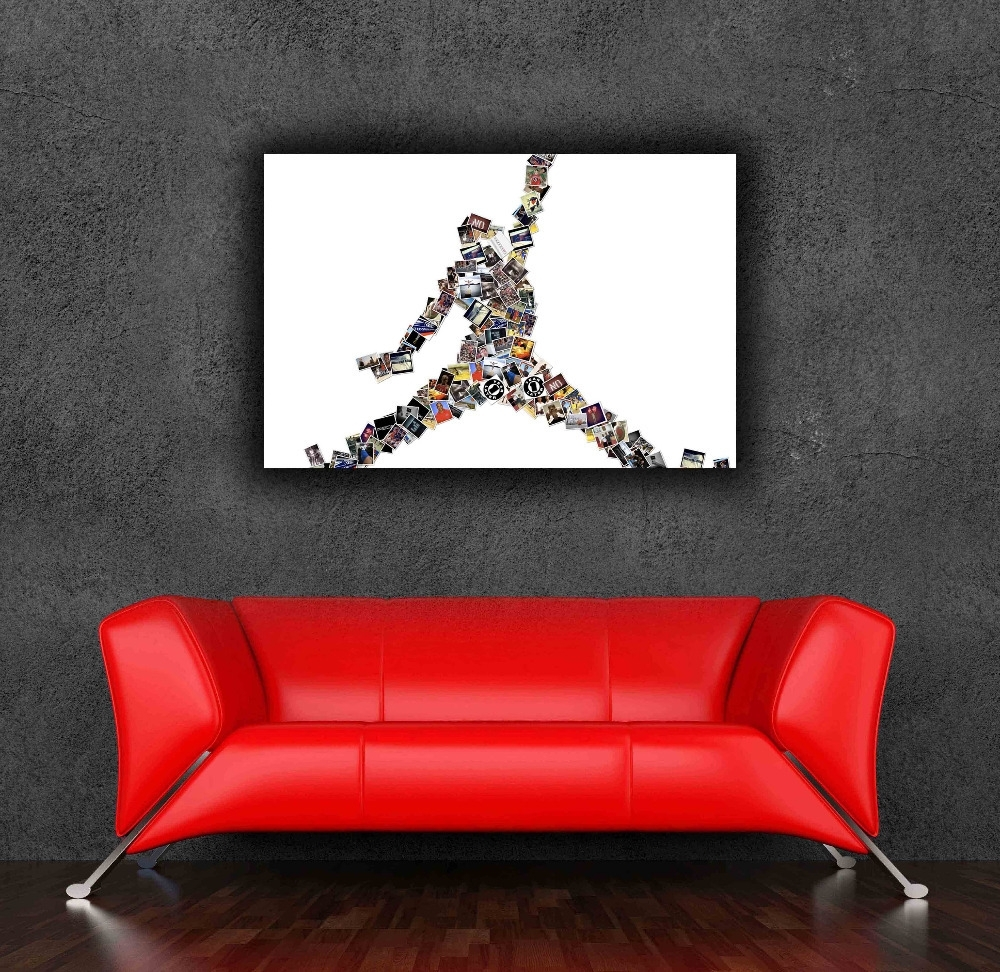 Michael Jordan Vs Allen Iverson 24X36 Inches Large Giant Home With Most Up To Date Michael Jordan Canvas Wall Art (View 5 of 15)