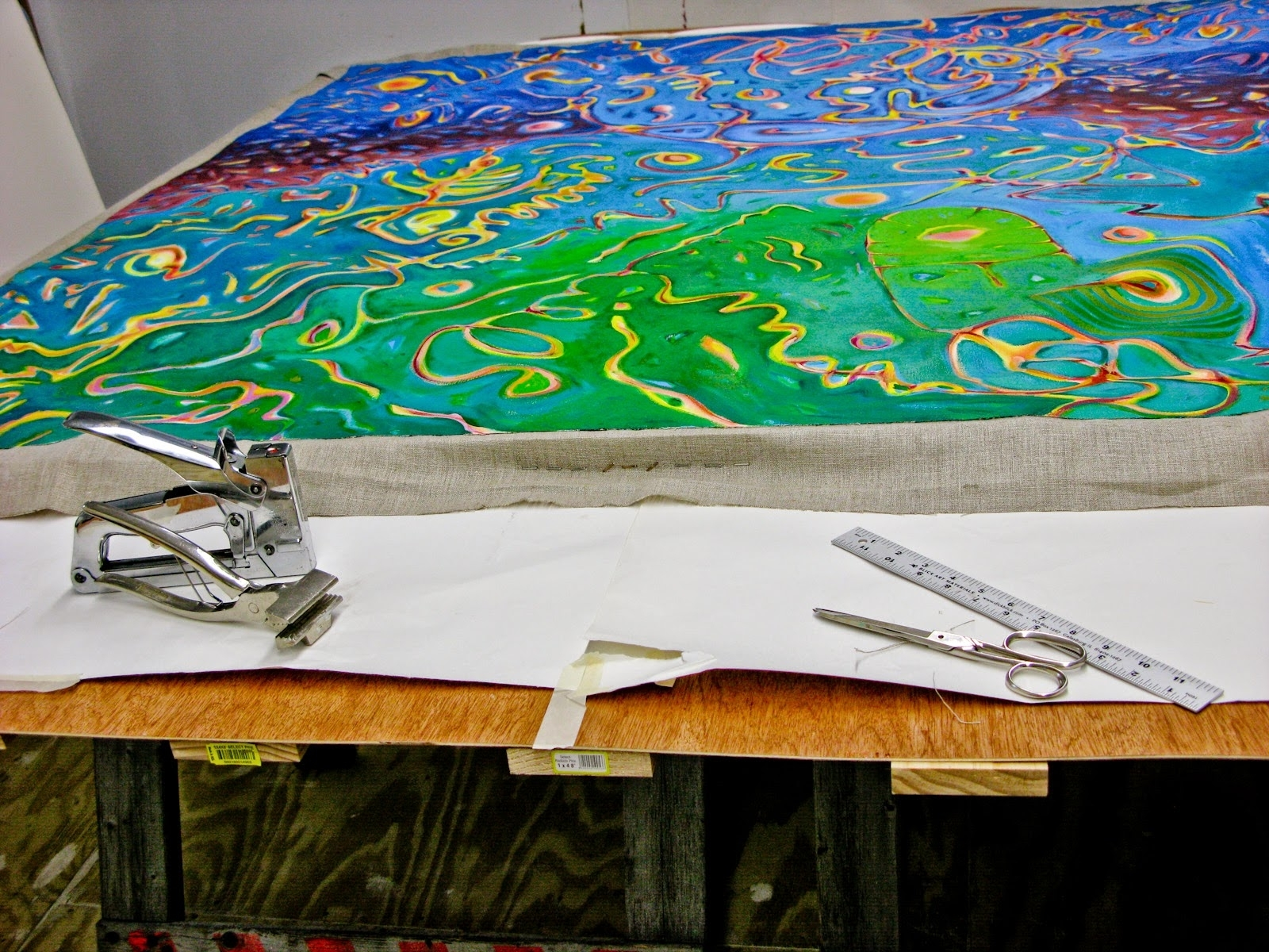 Michael Velkovich: Stretching And Relining A Canvas For 2018 Fabric Stretcher Wall Art (View 8 of 15)