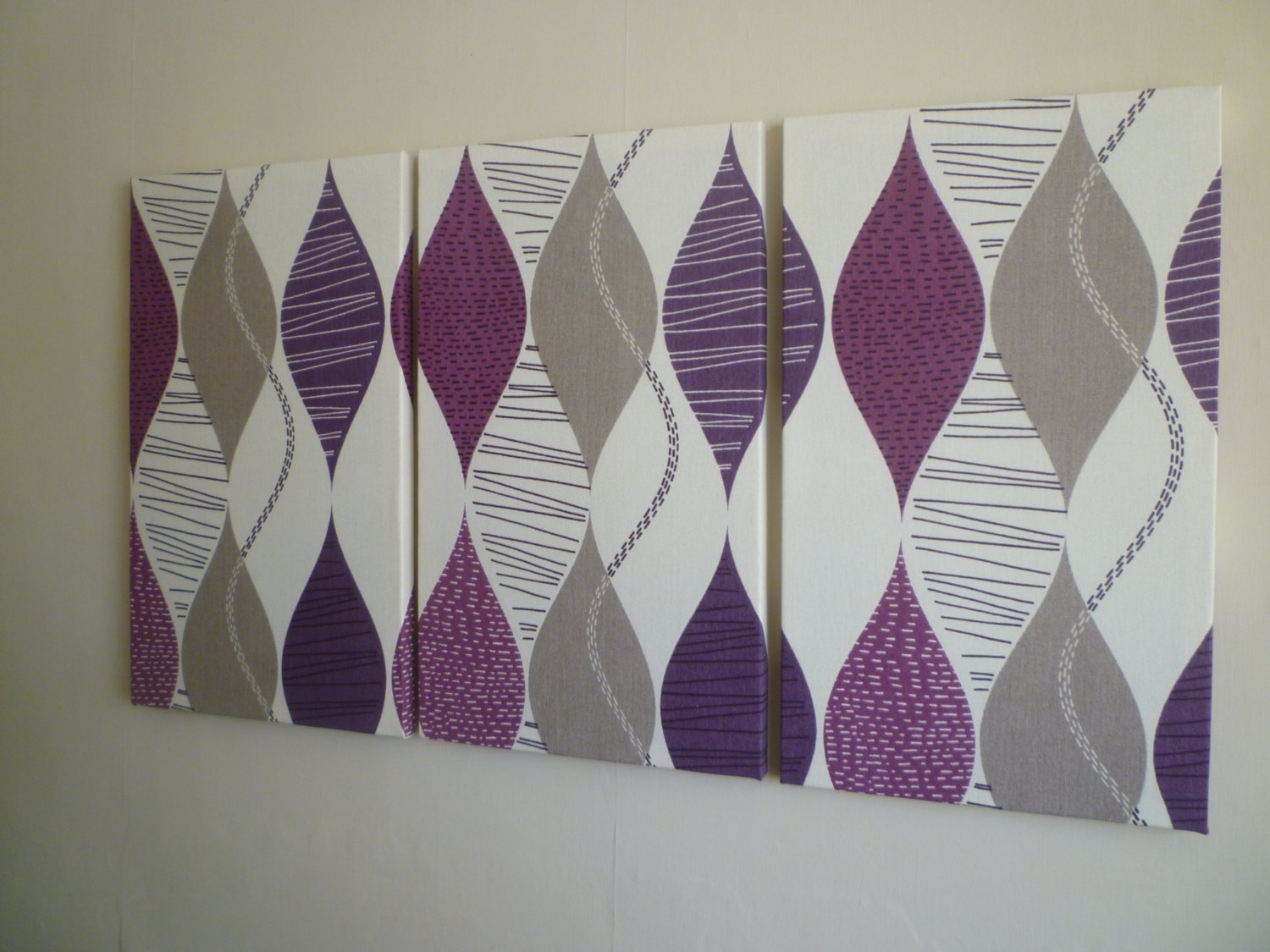 """Millie Wall Art Pink Geometric (14X14X15"""") Fabric Covered – Super Tech In Best And Newest Purple Fabric Wall Art (View 11 of 15)"""