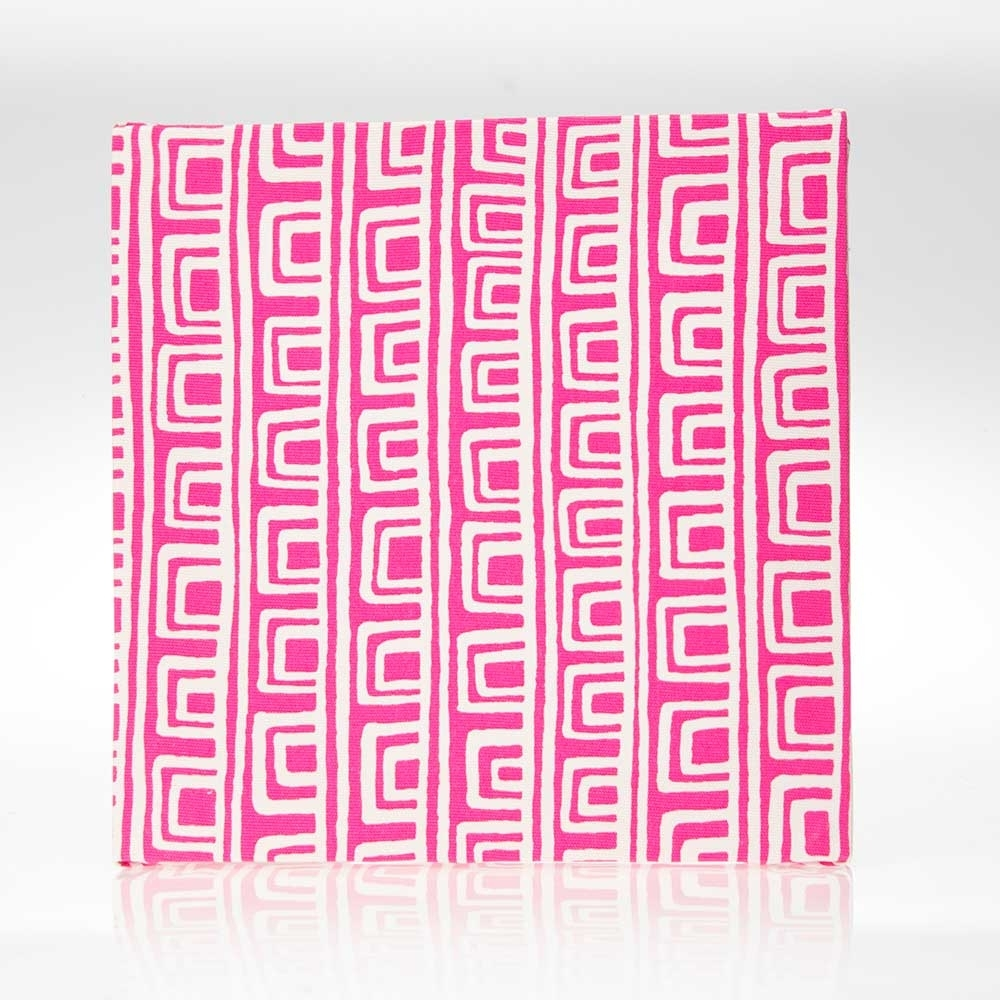 "Millie Wall Art Pink Geometric (14X14X15"") Fabric Covered – Super Tech Within Recent Geometric Fabric Wall Art (View 11 of 15)"