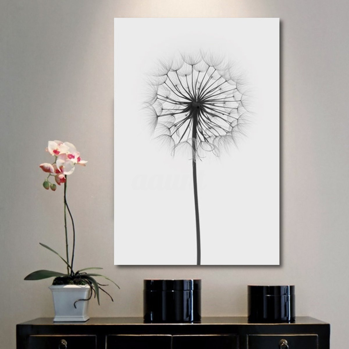 Minimalism Dandelion Canvas Print Painting Wall Art Pictures Home Intended For Recent Dandelion Canvas Wall Art (Gallery 9 of 15)