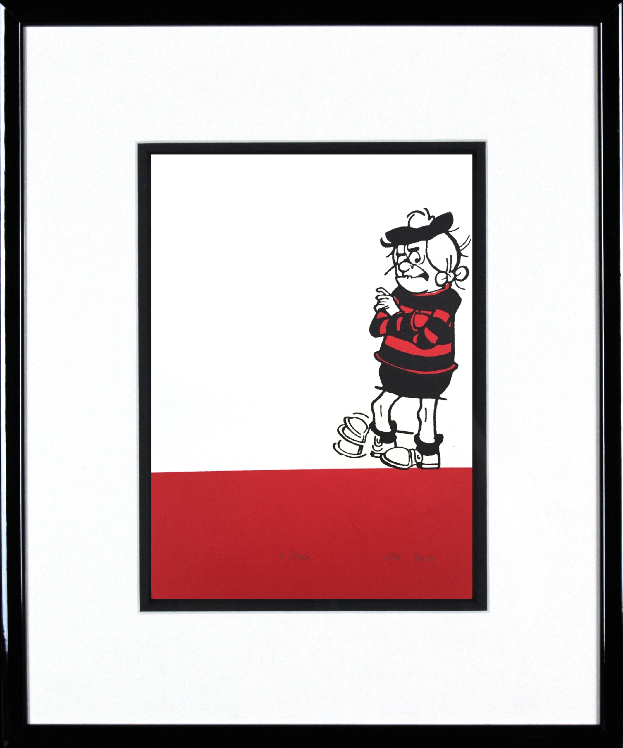 Minnie The Minx Taps Her Foot (Framed) – Eduardo Alessandro Studios Regarding Most Recent Framed Comic Art Prints (View 9 of 15)