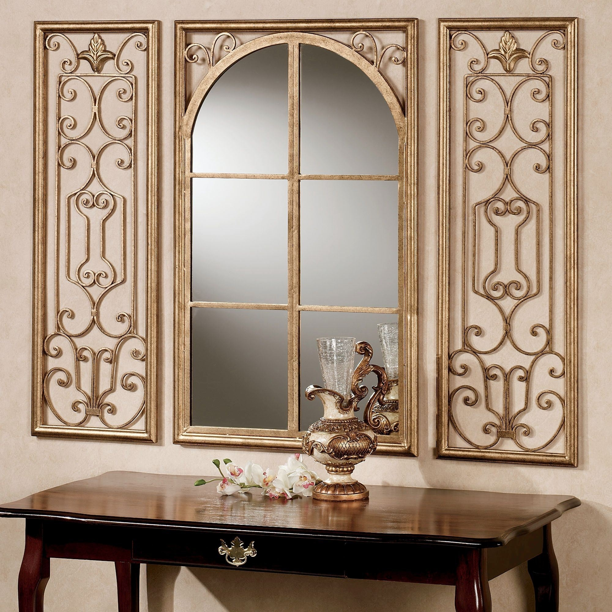 Mirrors : Window Mirror Modern Wall Mirror Large Circle Mirror Pertaining To Most Recent Mirror Sets Wall Accents (View 8 of 15)