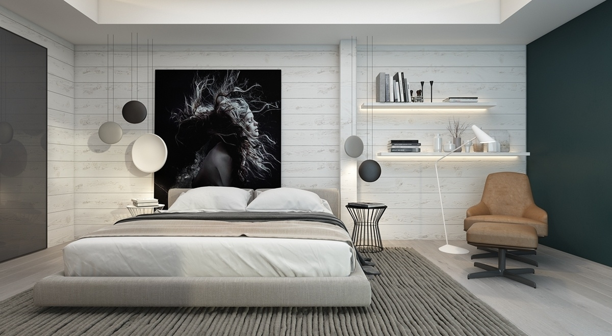 Modern Bedroom Wall Decor Ideas – Womenmisbehavin In Current Wall Accents Behind Bed (View 5 of 15)