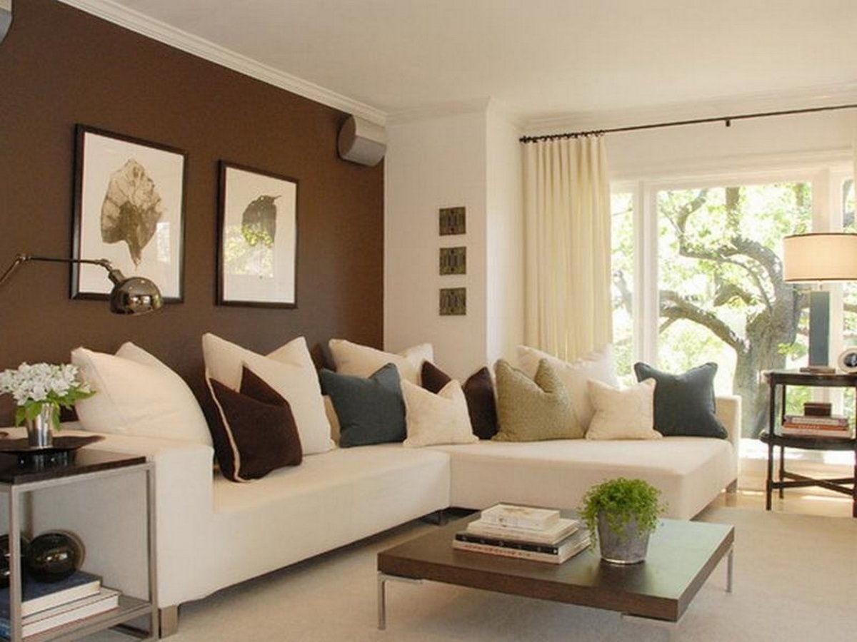 Modern Design Of Living Room With Antique Decorating Accent Wall With Most Recently Released Wall Accents For L Shaped Room (View 9 of 15)