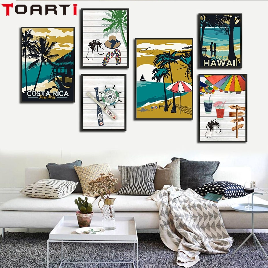 Modern Hawaii Aruba Costa Rica Impressionist Style Canvas Art In Current Hawaii Canvas Wall Art (View 10 of 15)