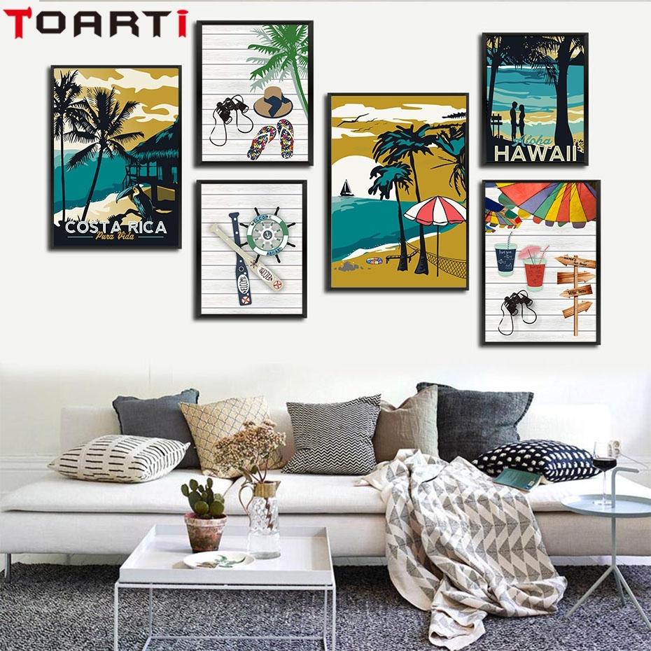 Modern Hawaii Aruba Costa Rica Impressionist Style Canvas Art In Current Hawaii Canvas Wall Art (View 15 of 15)
