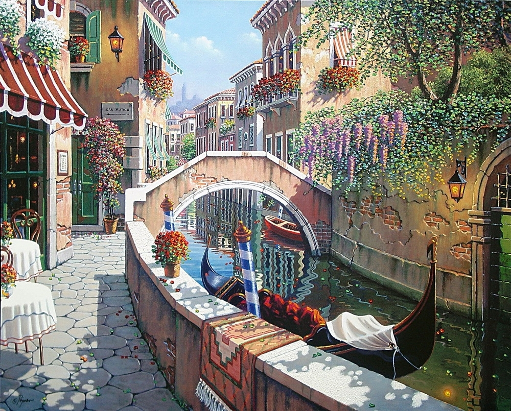 Modern Home Decoration Oil Painting Art Print On Canvas Home With Regard To Recent Italy Canvas Wall Art (View 9 of 15)