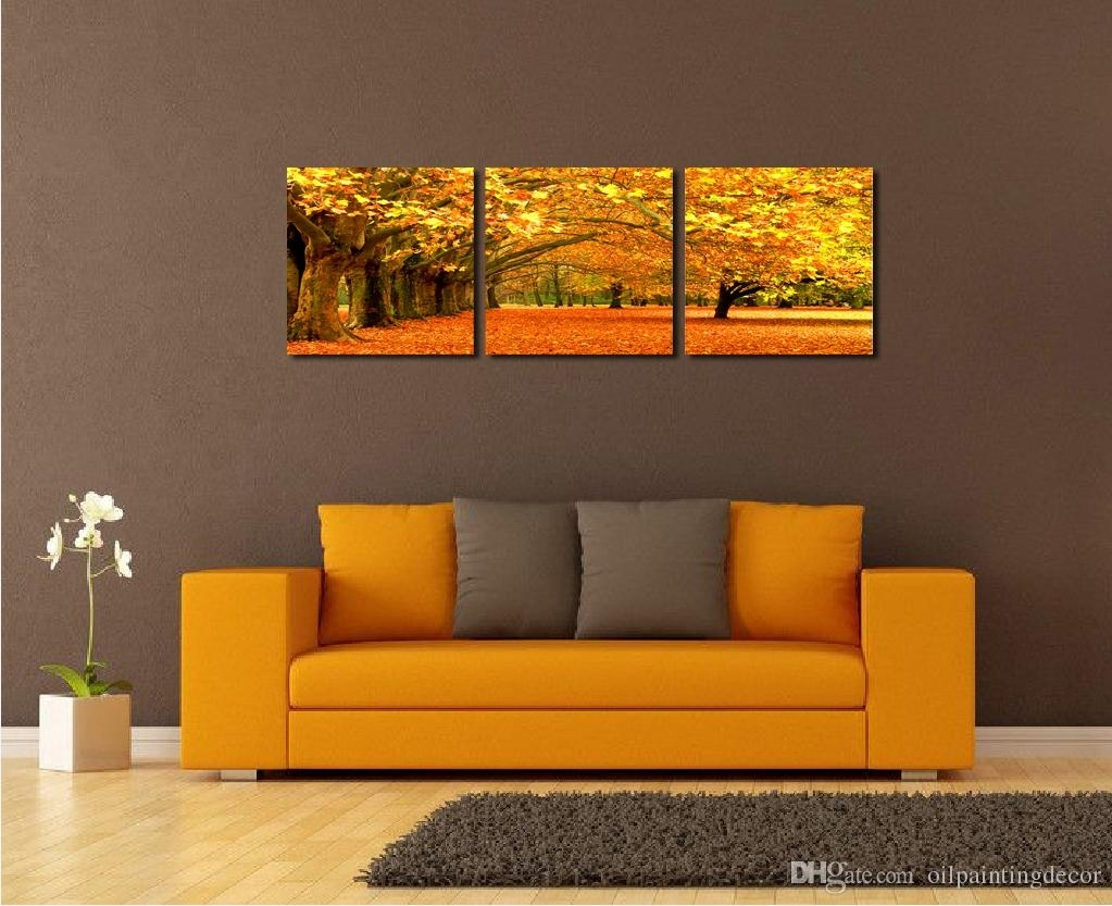 Modern Landscape Painting Canvas Wall Art Framed Ideas For Living Pertaining To Most Up To Date Living Room Canvas Wall Art (View 11 of 15)