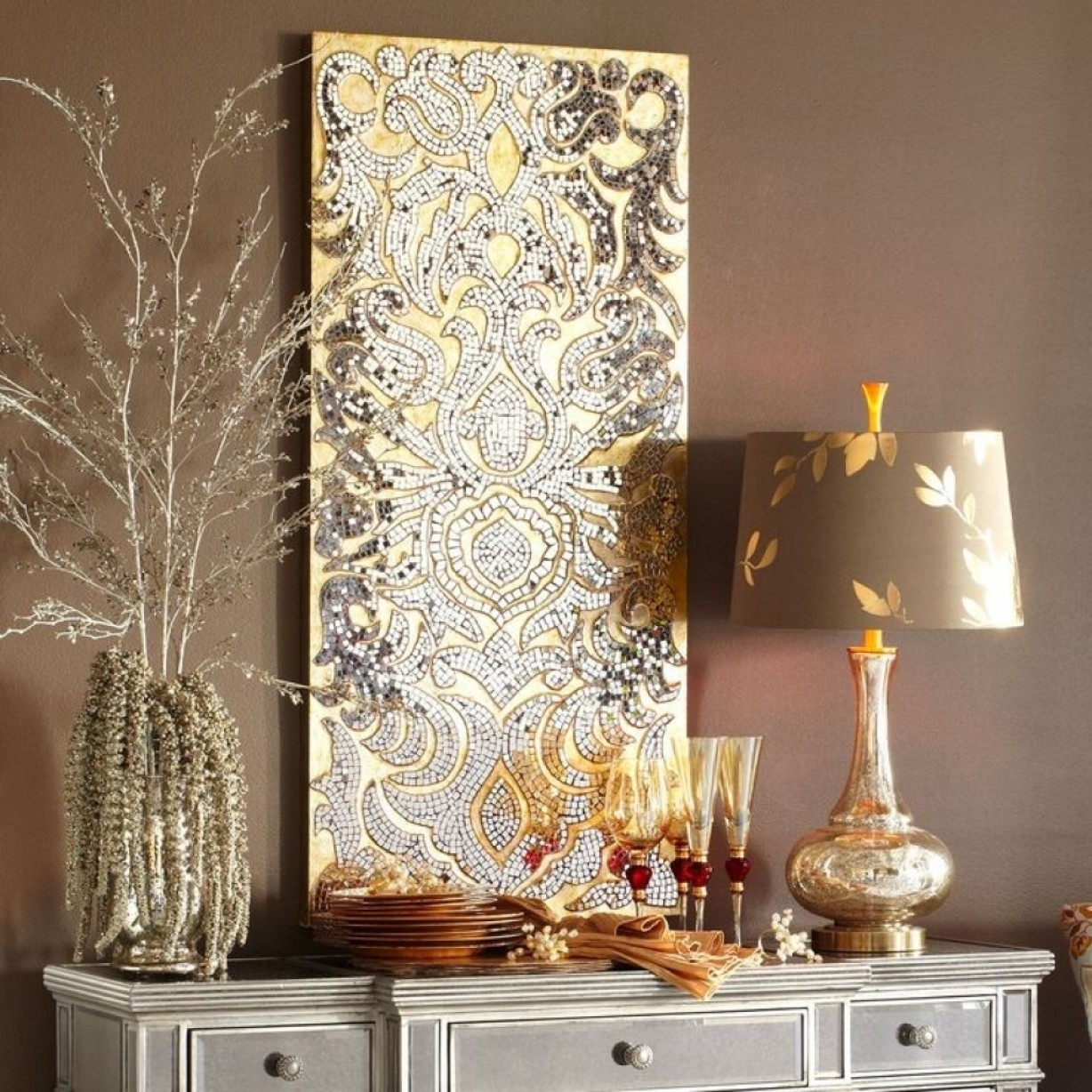 Modern Mosaic Mirror Wall Decor : Doherty House – Ideas Mosaic Regarding Latest Mirrors Wall Accents (View 8 of 15)