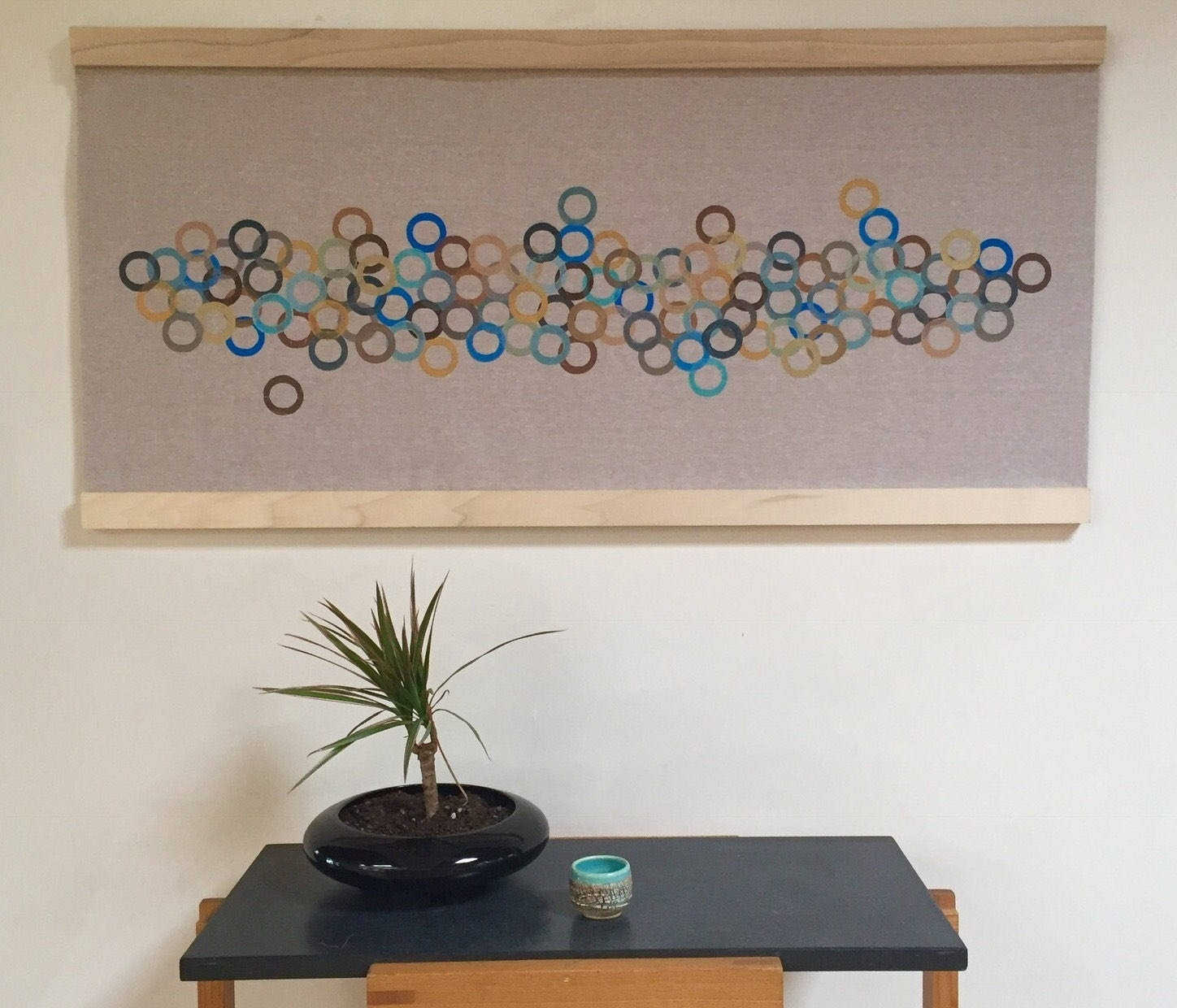 Modern Retro Wall Art Handmade Contemporary Block Printed Fabric With Regard To Most Up To Date Contemporary Fabric Wall Art (View 5 of 15)