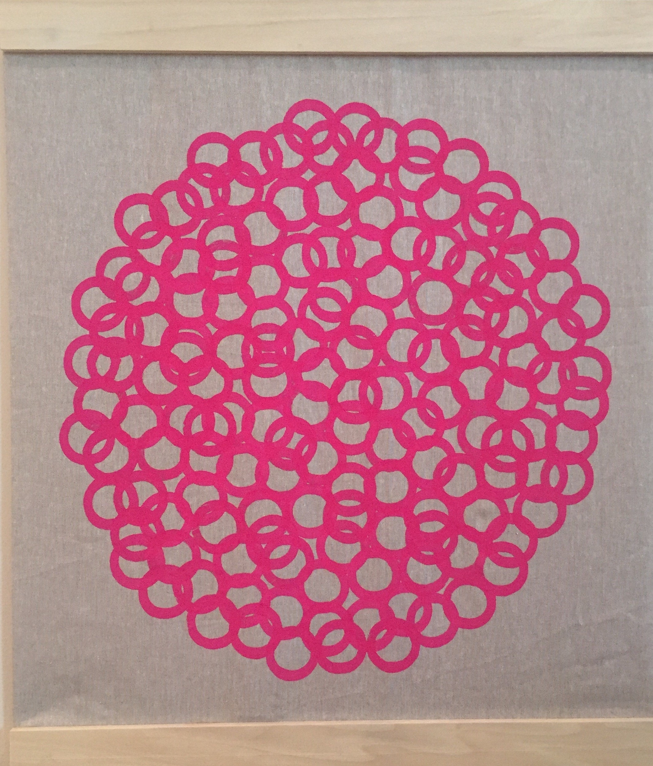 Modern Retro Wall Art Handmade Contemporary Printed Fabric Wall Throughout Most Popular Fabric Circle Wall Art (View 9 of 15)