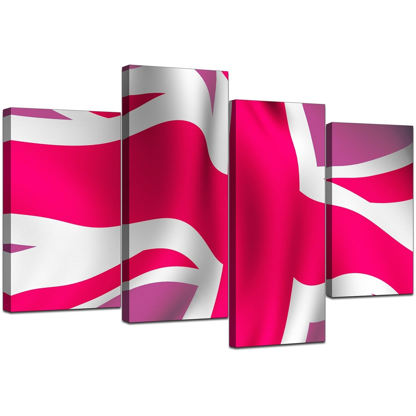 Modern Union Jack Canvas Prints In Pink – For Bedroom In Most Recently Released Union Jack Canvas Wall Art (View 8 of 15)