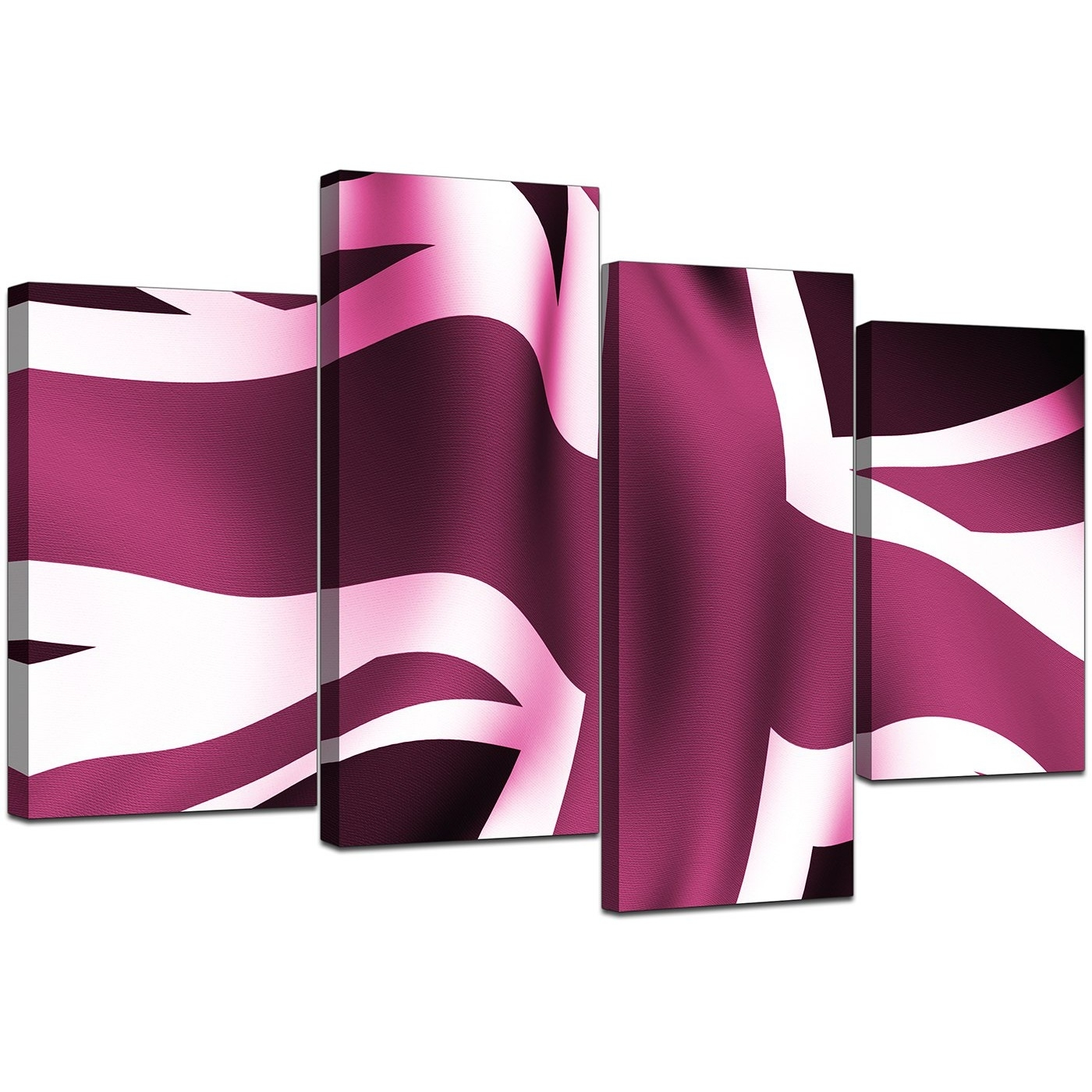 Modern Union Jack Canvas Prints In Plum – For Bedroom Regarding Most Recent Union Jack Canvas Wall Art (View 7 of 15)