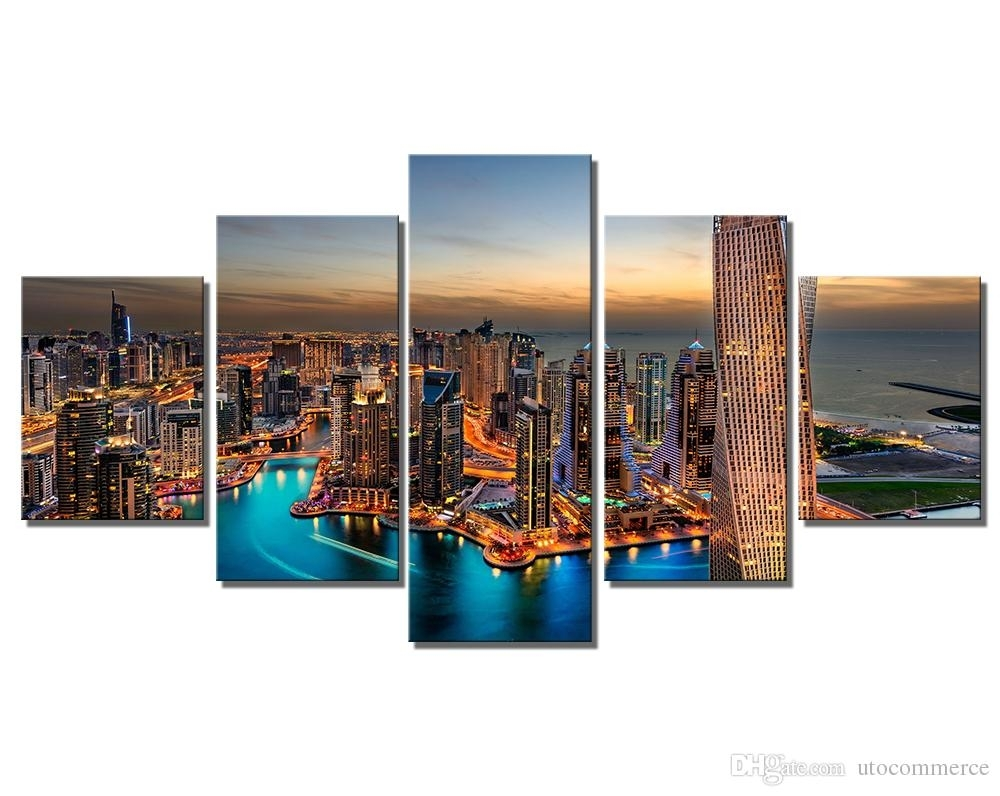 Modern Wall Art Painting Canvas Prints Frames Picture Of Dubai Uae With Most Recently Released Dubai Canvas Wall Art (Gallery 1 of 15)