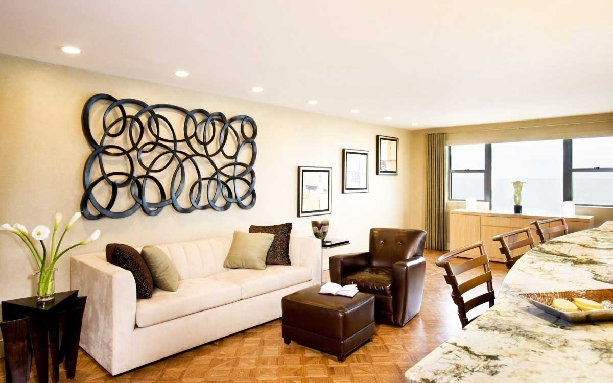 Modern Wall Decor For Living Room Delectable Decor Large Wall Pertaining To Latest Modern Wall Accents (View 11 of 15)
