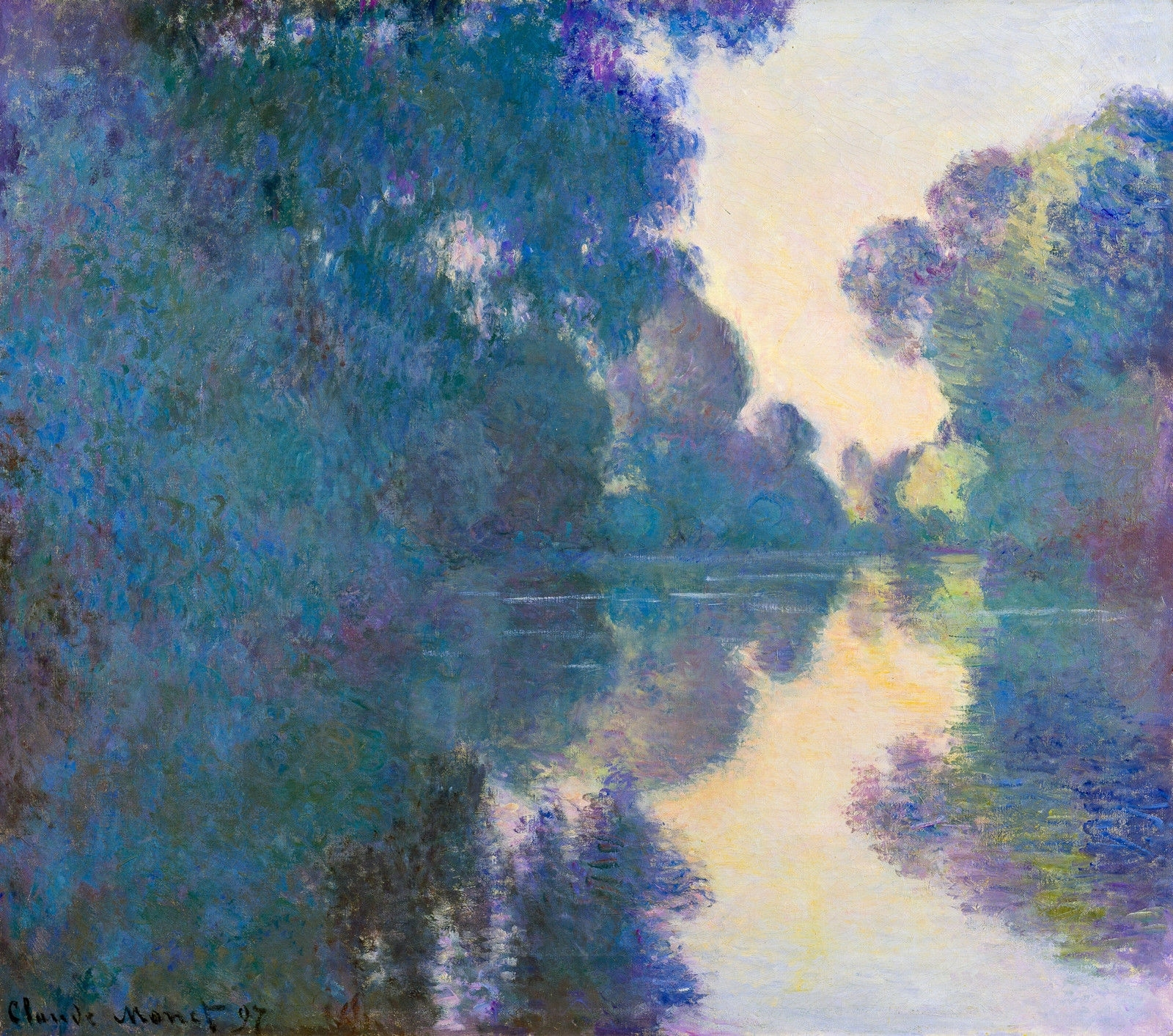 Monet 1897, Morning On The Seine Near Giverny, Fade Resistant Hd With Regard To Most Up To Date Monet Canvas Wall Art (Gallery 9 of 15)