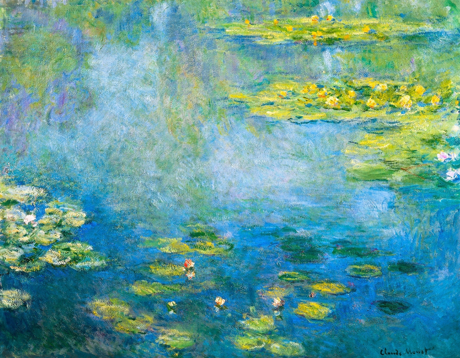 Monet 1906, Waterlilies, Lily Canvas Print, Fade Resistant Hd Regarding Most Recent Monet Canvas Wall Art (View 10 of 15)