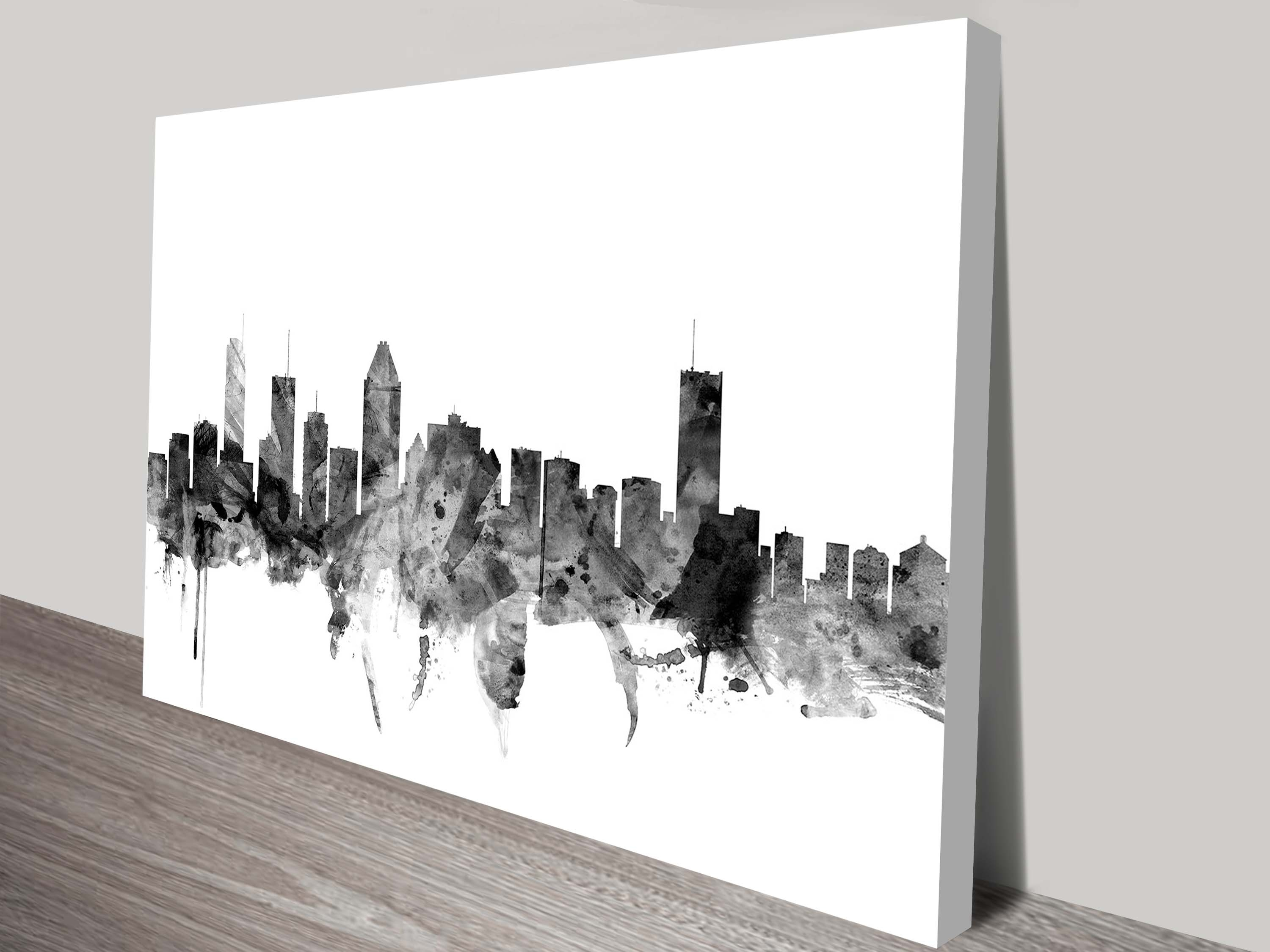 Montreal Canada Skyline Wall Artmichael Tompsett In Most Recently Released Montreal Canvas Wall Art (View 3 of 15)