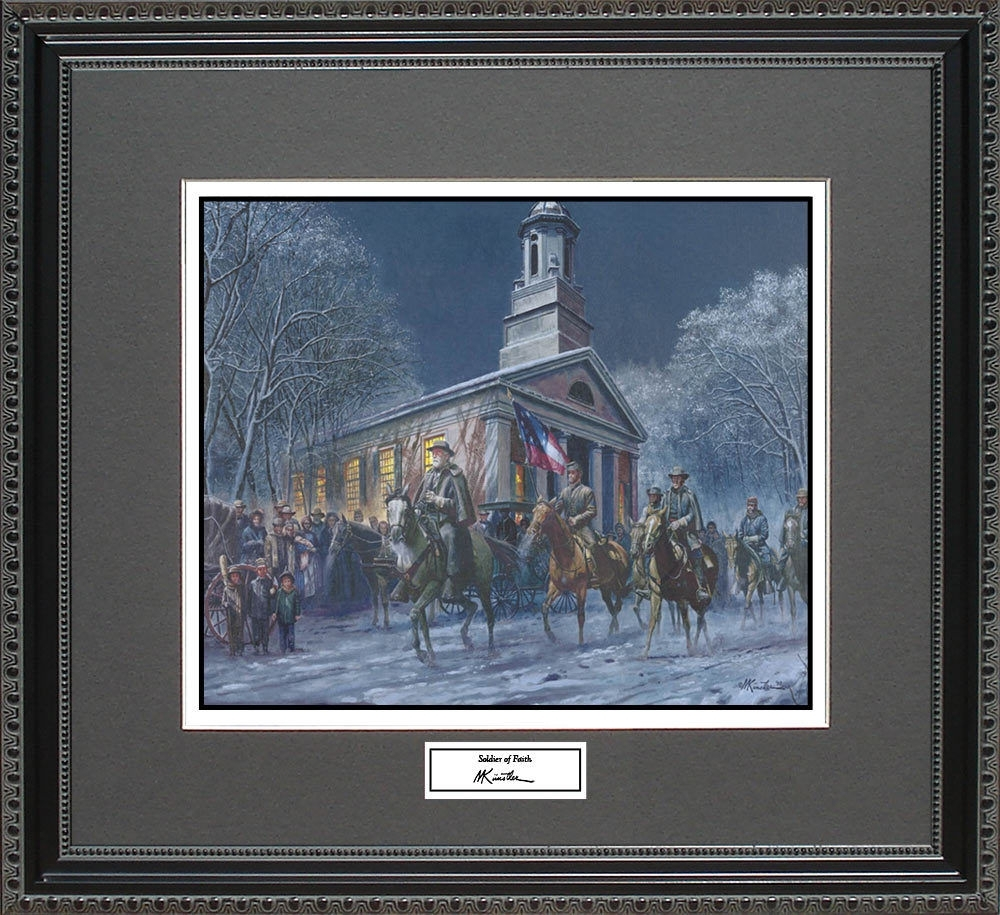 Mort Kunstler Soldier Of Faith Framed Print Civil War Wall Art Within Most Popular Confederate Framed Art Prints (View 5 of 15)