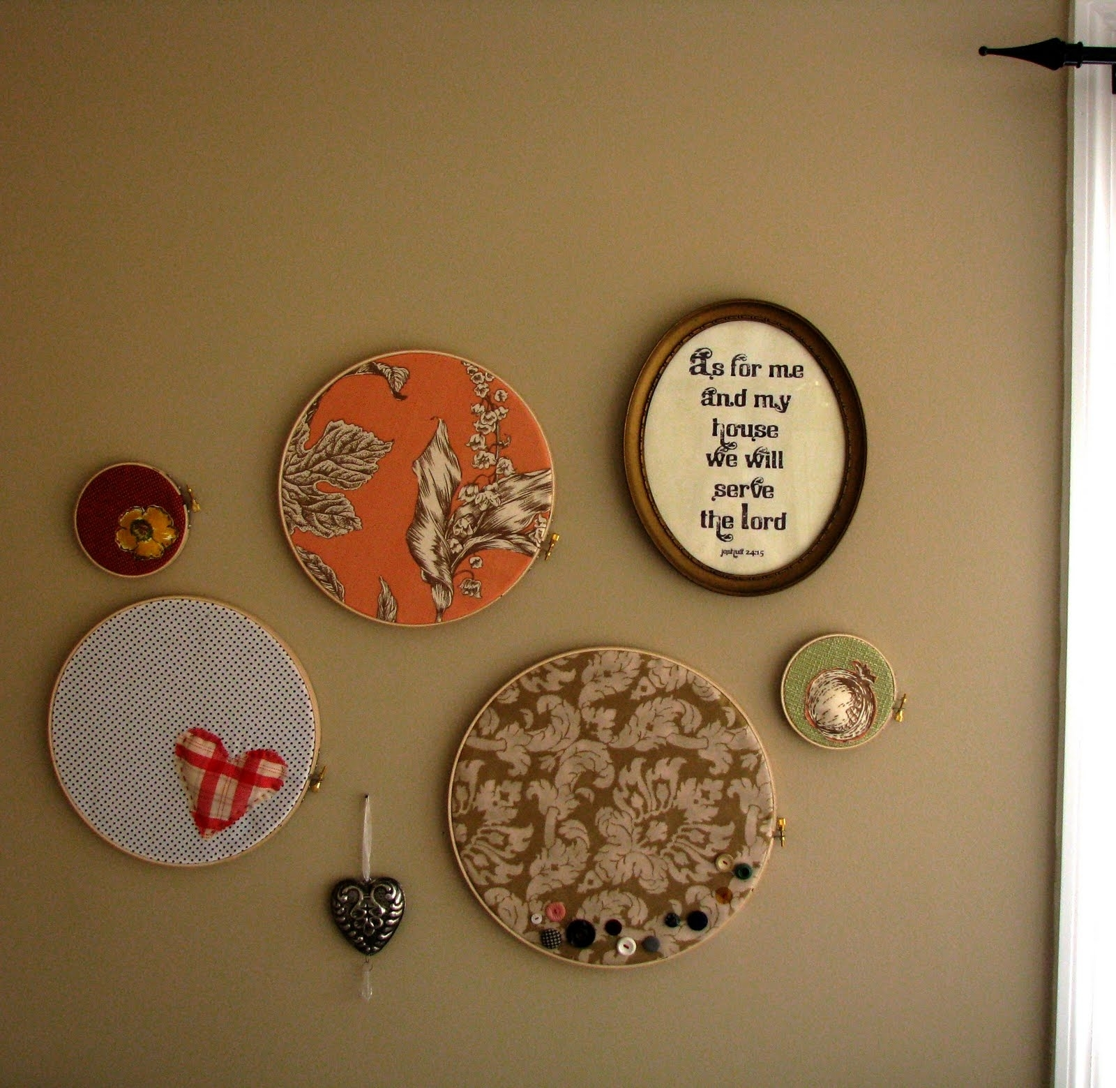 Mostaza Seed: I Heart Hoop Wall Art Within Newest Embroidery Hoop Fabric Wall Art (View 11 of 15)