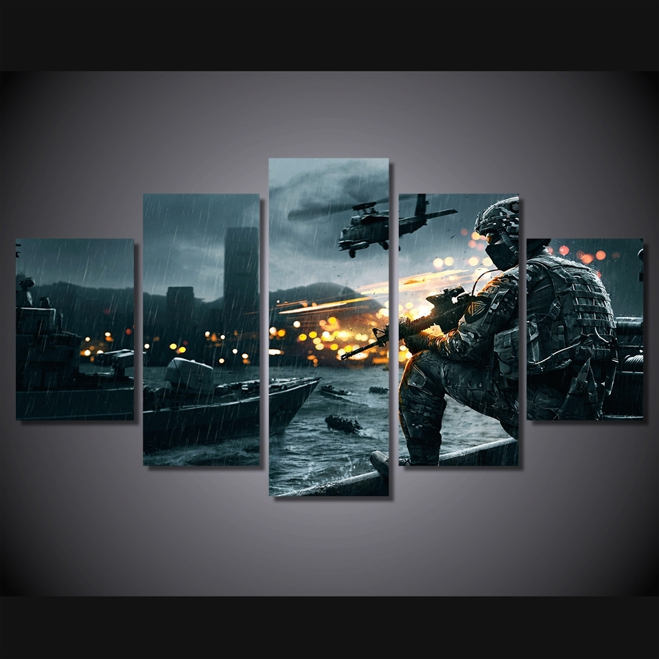 Movies Poster Oil Painting On Canvas Modern Home Pictures Prints Throughout 2017 Movies Canvas Wall Art (View 12 of 15)