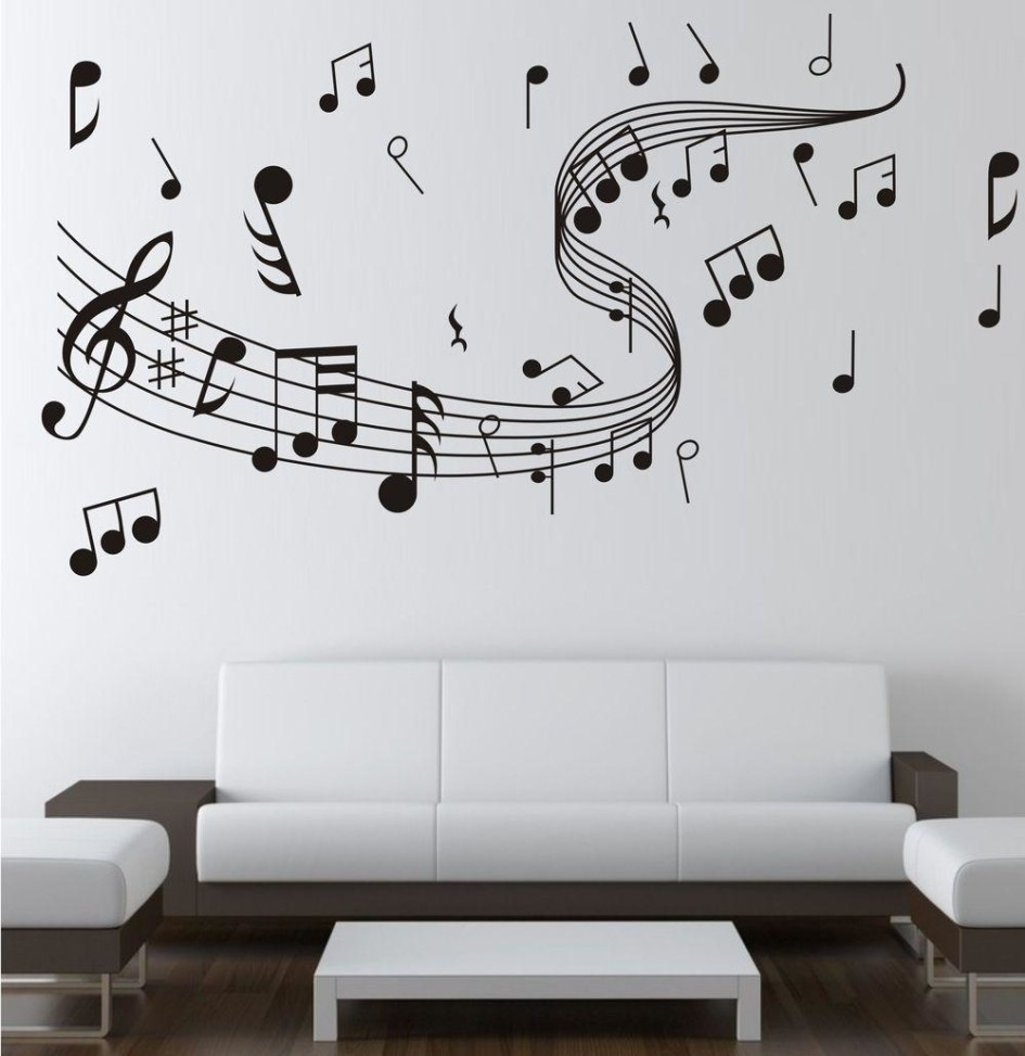 Music Note Wall Stickers Decor | Home Wall Decor | Pinterest In Most Recent Adhesive Art Wall Accents (Gallery 1 of 15)
