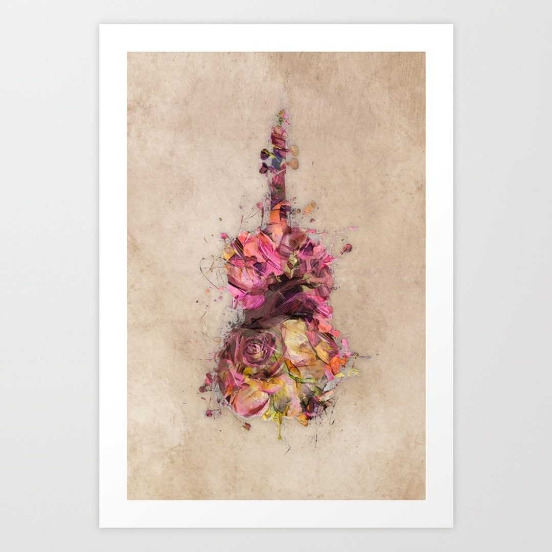 Musicart Art Prints | Society6 With Regard To Most Recent Bass Framed Art Prints (View 10 of 15)
