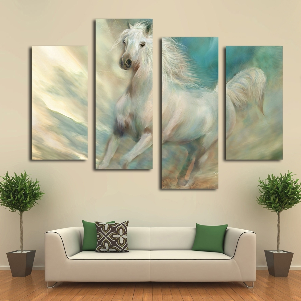 Must Watch Horse Canvas Wall Art Sui Xue Site Within 2018 Horses Canvas Wall Art (View 11 of 15)