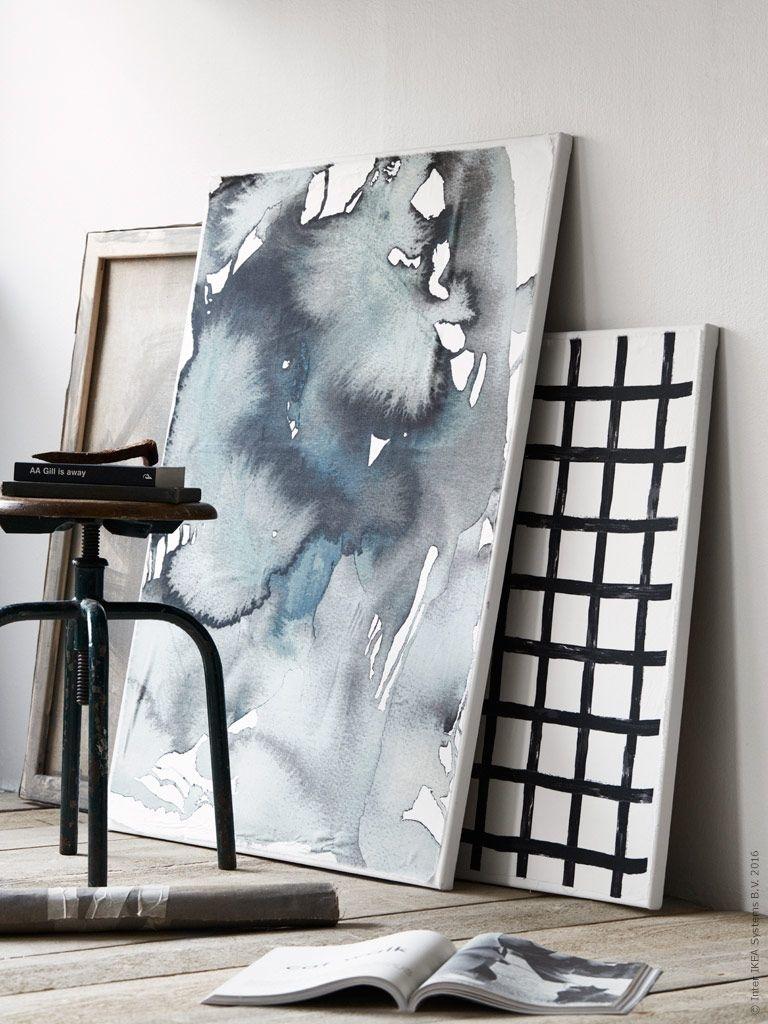 Några Av Höstens Stora Inredningstrender Är Konst I Storformat Och pertaining to 2017 Ikea Fabric Wall Art