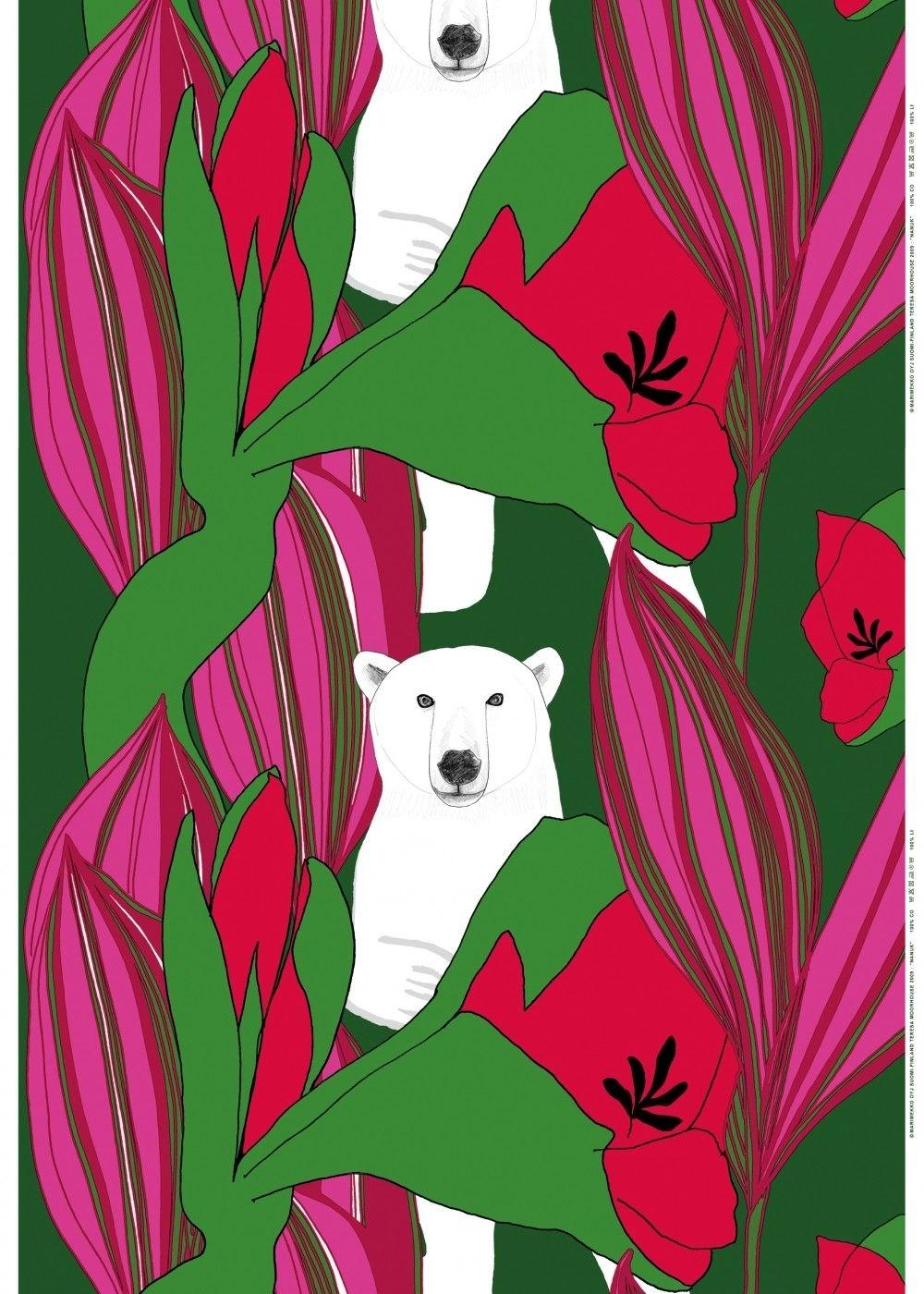 Nanuk Fabric | Cotton Fabrics | Marimekko | Pattern | Pinterest With Regard To Most Current Marimekko 'kevatjuhla' Fabric Wall Art (View 9 of 15)